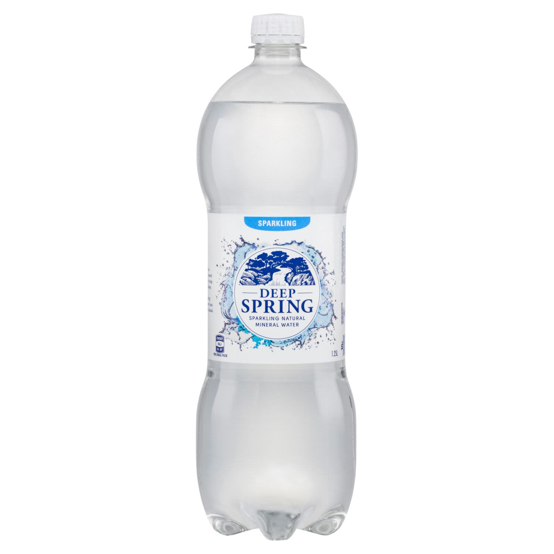 Deep Spring Sparkling Natural Mineral Water, 1.25 Litre