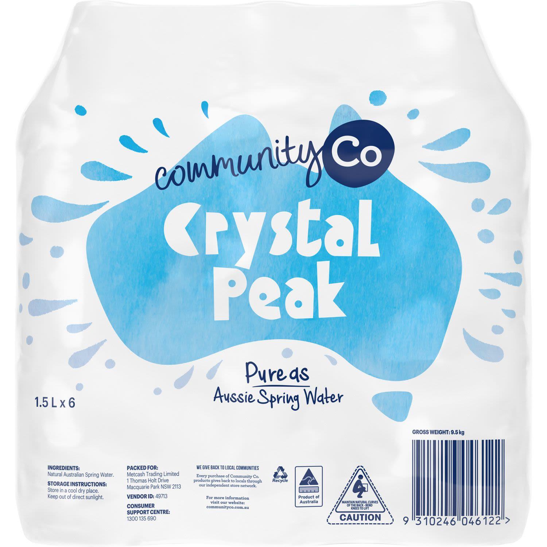 Community Co Crystal Peak Spring Water, 6 Each