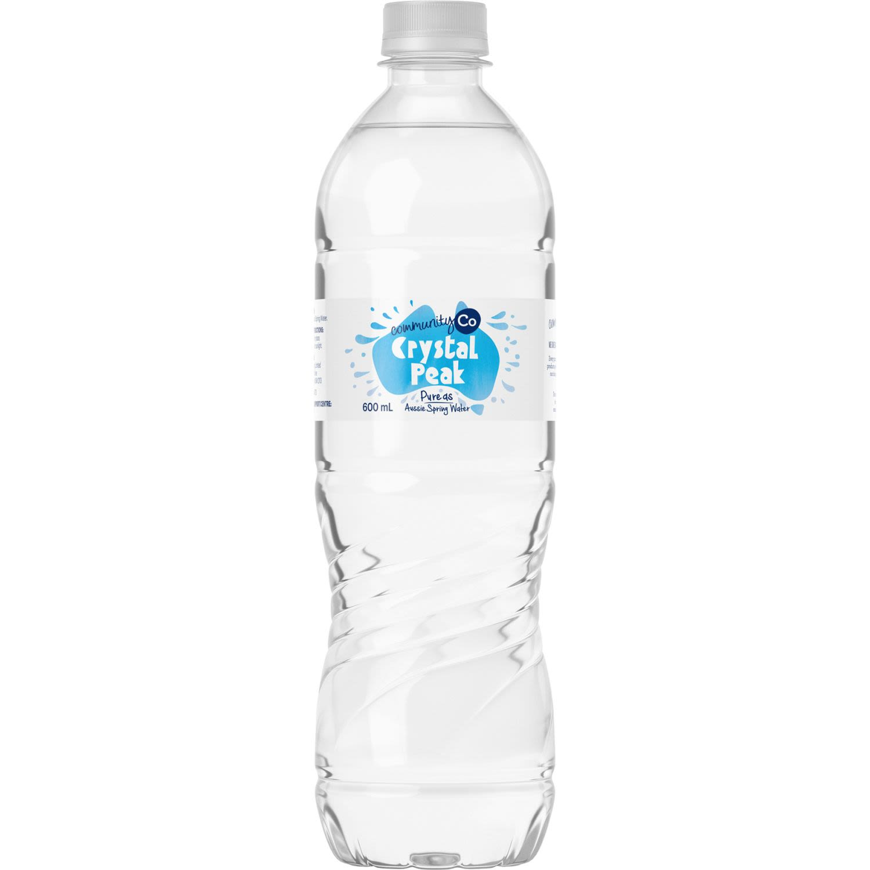 Community Co Crystal Peak Sparkling Water, 600 Millilitre
