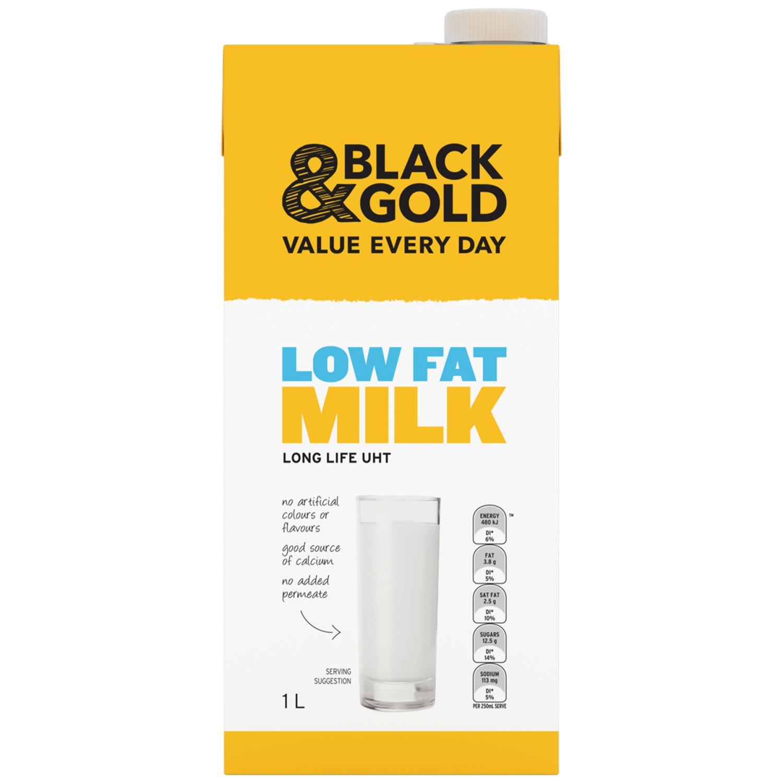 Black & Gold Low Fat Milk , 1 Litre