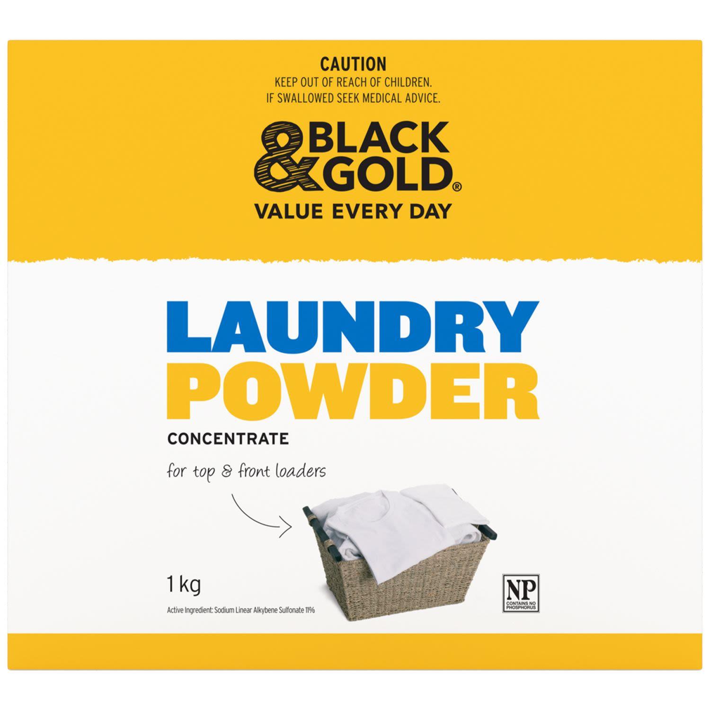 Black & Gold Laundry Powder Concentrate, 1 Kilogram