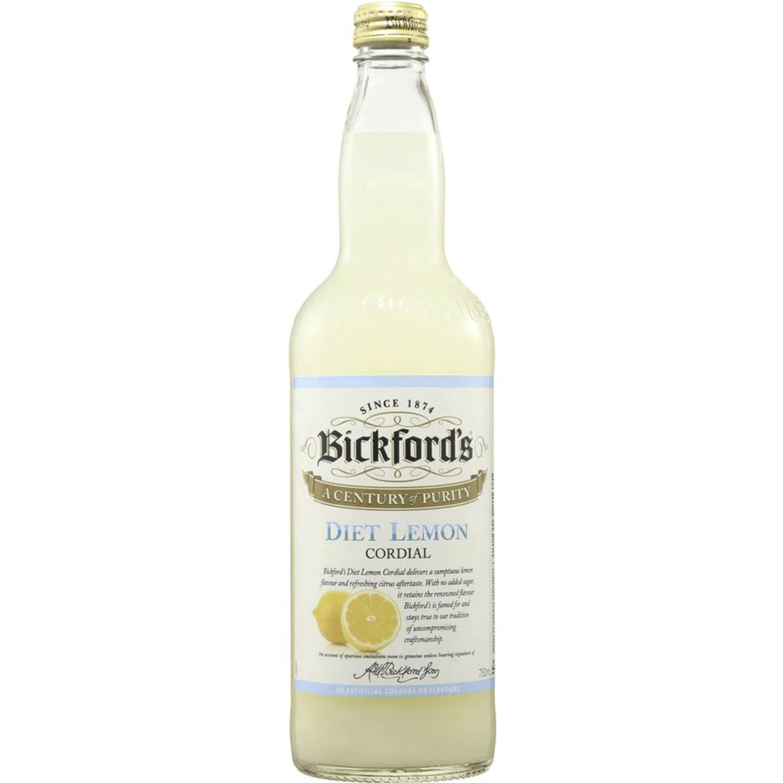 Bickford's Diet Lemon Cordial, 750 Millilitre