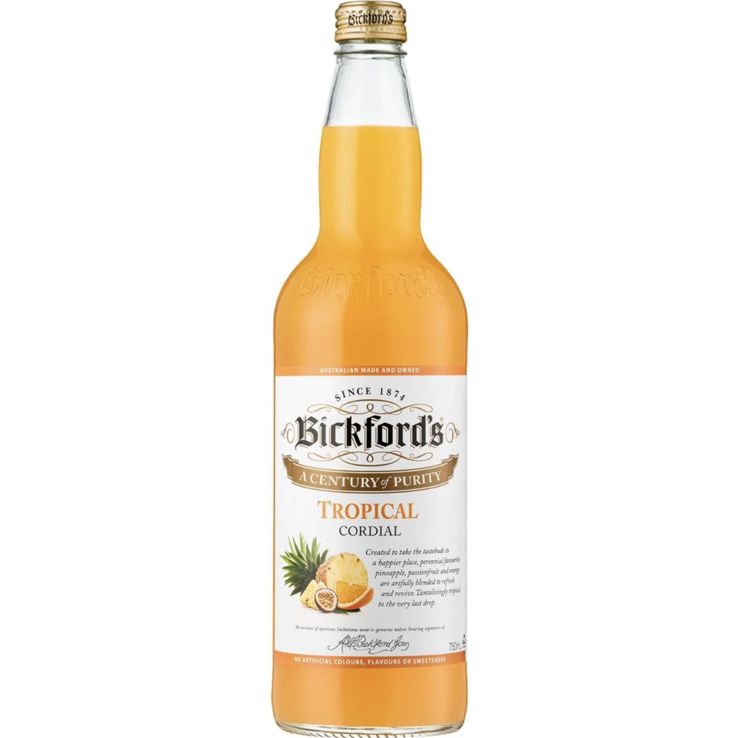 Bickford's Tropical Cordial, 750 Millilitre