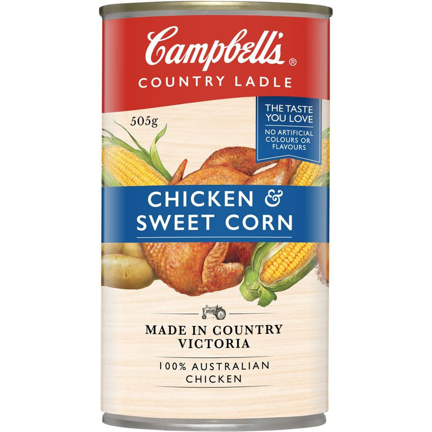 Campbell's Country Ladle Canned Soup Chicken & Sweet Corn, 505 Gram