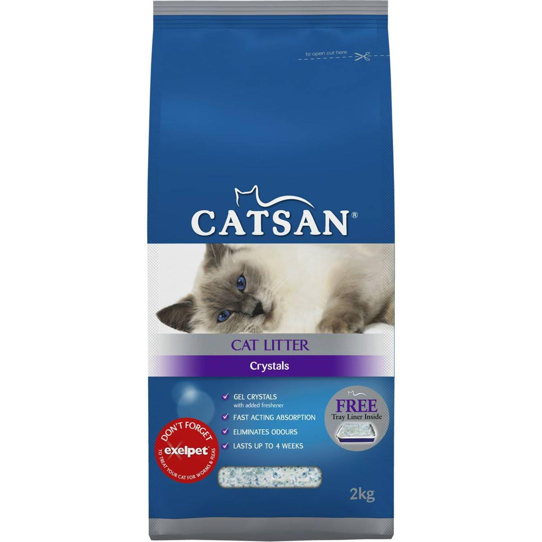 Catsan Cat Litter Crystals, 2 Kilogram