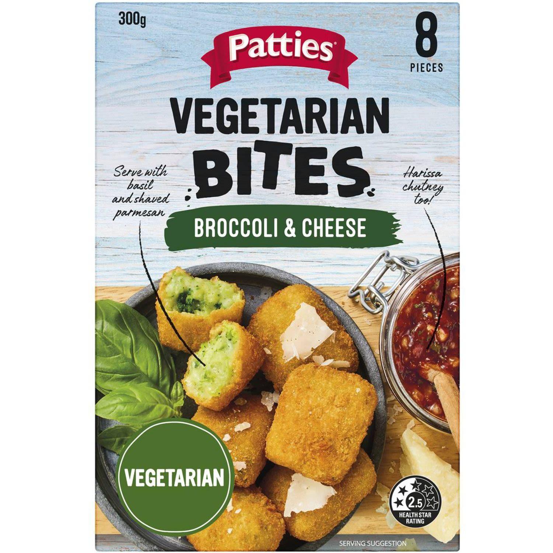 Patties Vegetarian Broccoli & Cheese Bites, 300 Gram