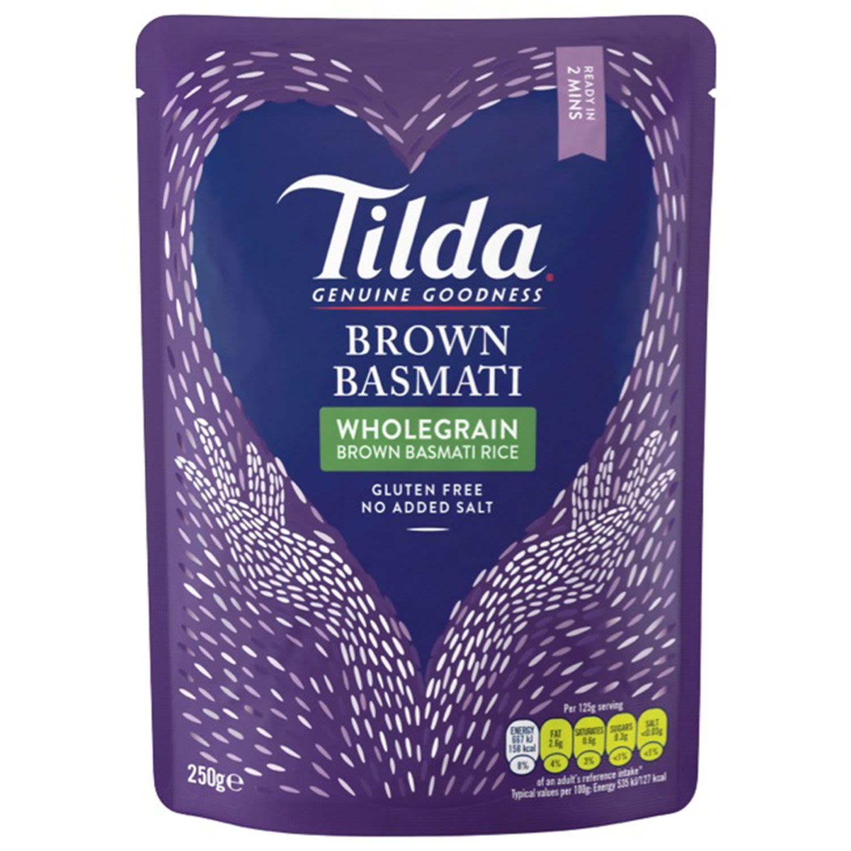 Tilda Microwave Steamed Brown Basmati Rice, 250 Gram
