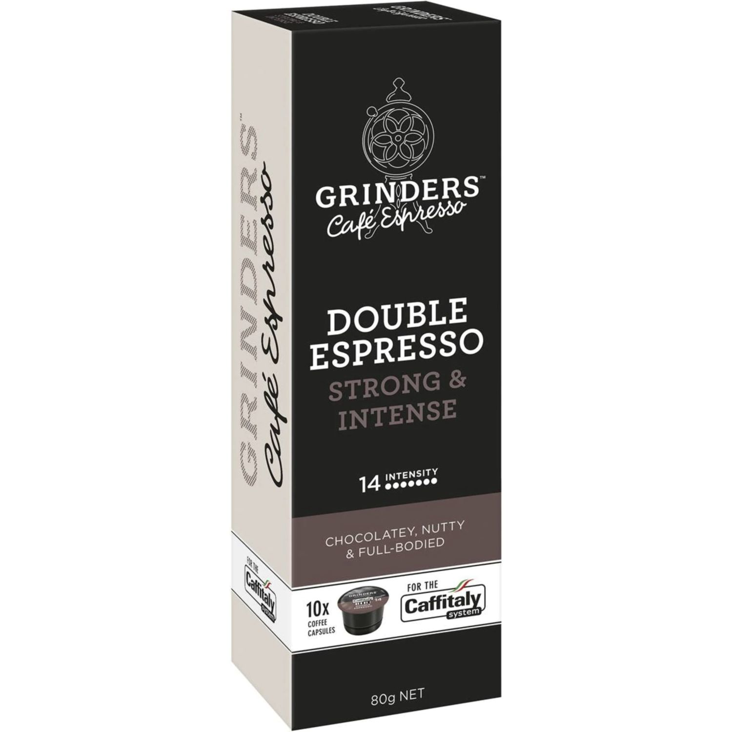 Grinders Coffee Capsules Double Espresso Caffitaly System, 10 Each