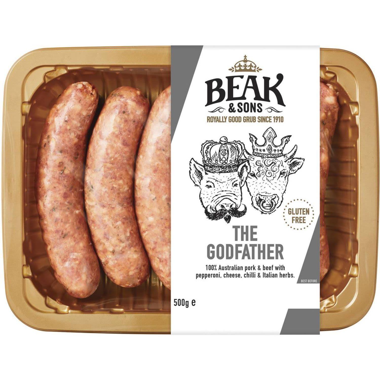 Beak & Sons The Godfather Sausages, 500 Gram