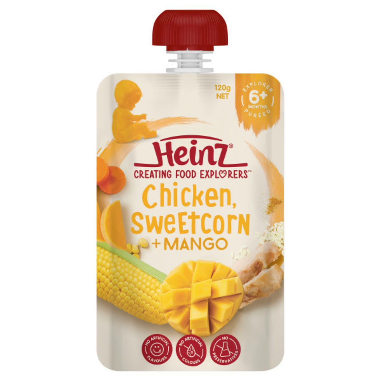 Heinz Chicken Sweetcorn & Mango, 120 Gram