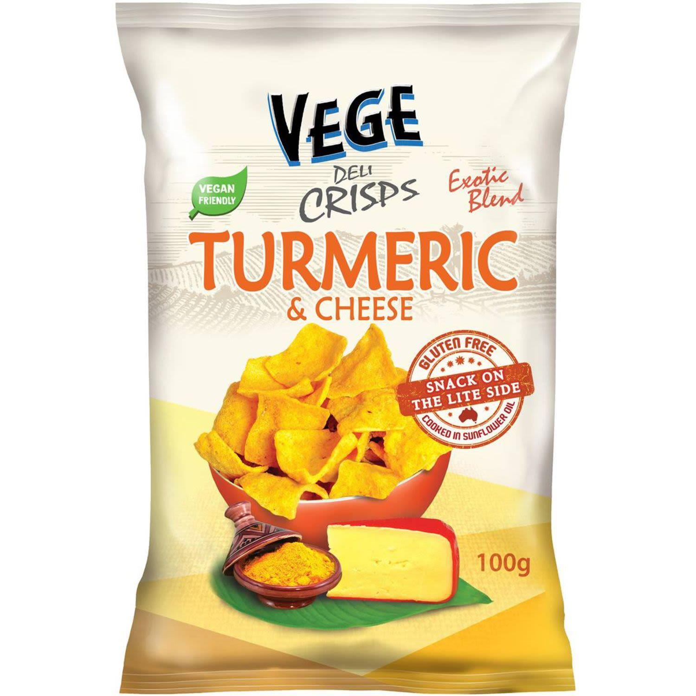 Ajitas Vege Chips Deli Crisps Turmeric & Cheese, 100 Gram