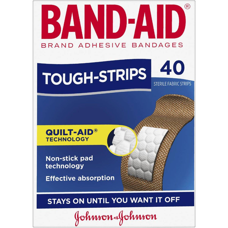 Band-aid Tough Strips Brand, 40 Each