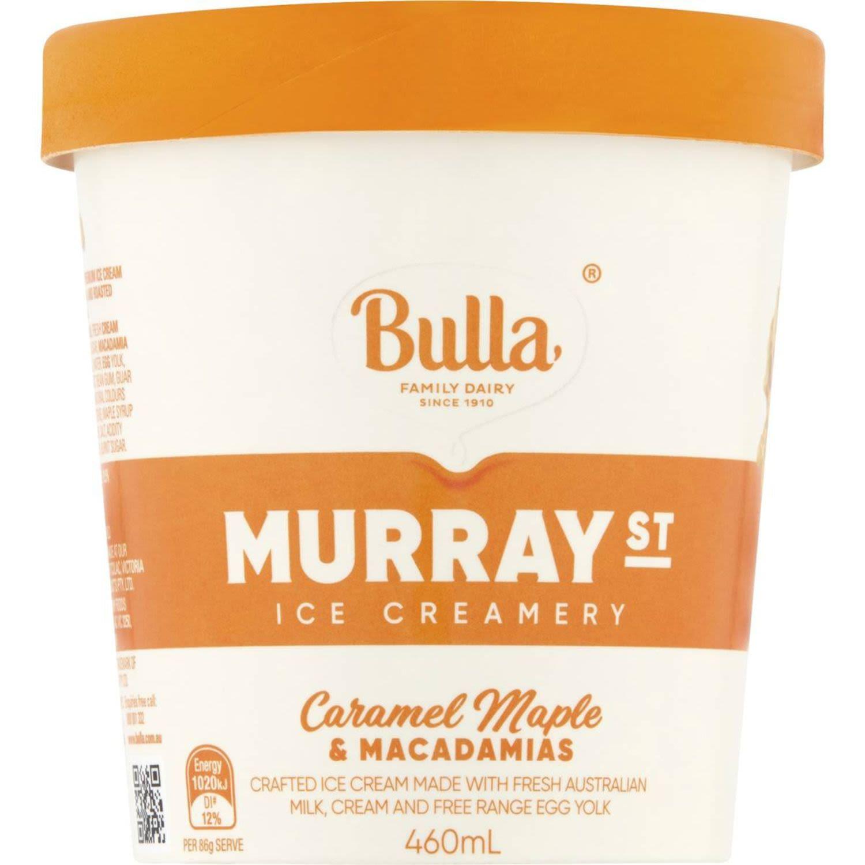 Bulla Ice Cream Murray Street Caramel Maple, 460 Millilitre