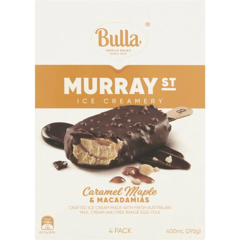 Bulla Ice Cream Murray Street Caramel Maple, 4 Each