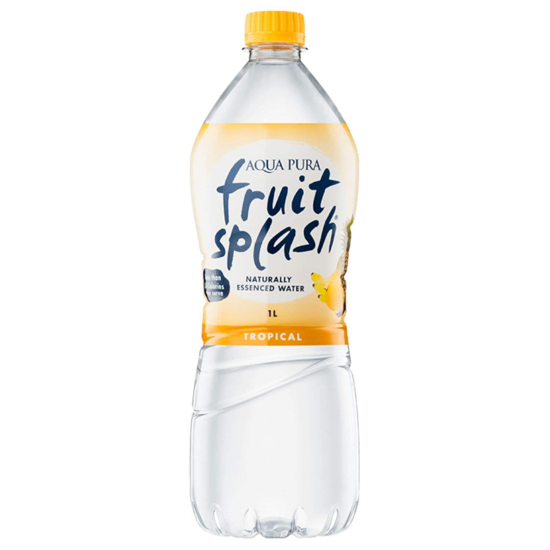 Aqua Pura Fruit Splash Tropical, 1 Litre