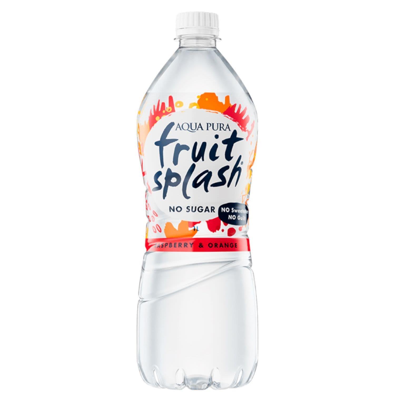 Aqua Pura Fruit Splash Raspberry & Orange, 1 Litre