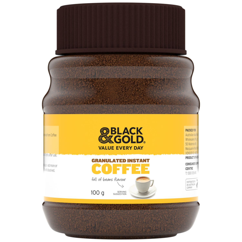 Black & Gold Coffee Granules, 100 Gram