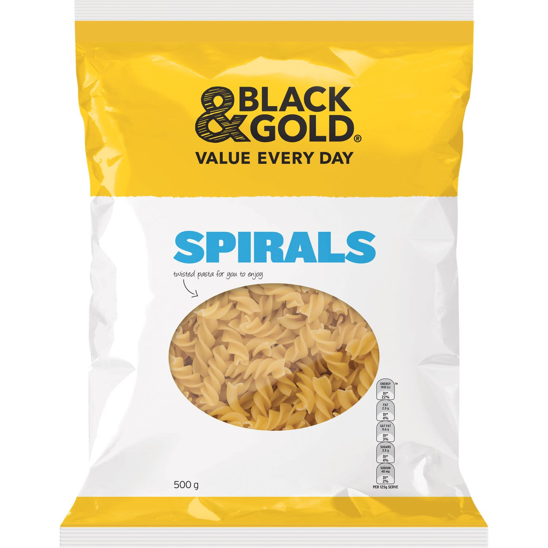 Black & Gold Spirals, 500 Gram