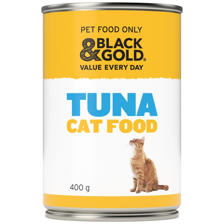 Black & Gold Cat Food Tuna, 400 Gram