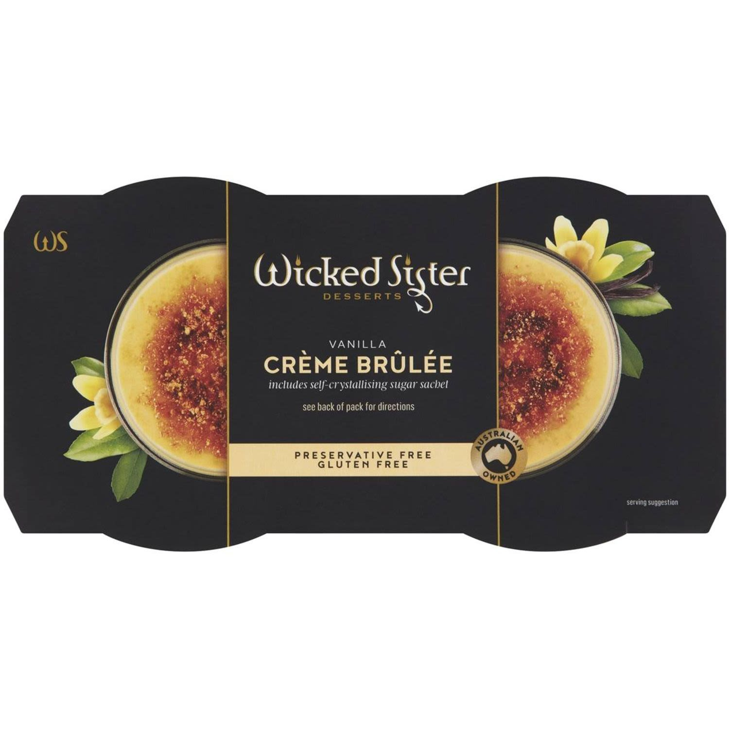Wicked Sister Vanilla Creme Brulee, 2 Each