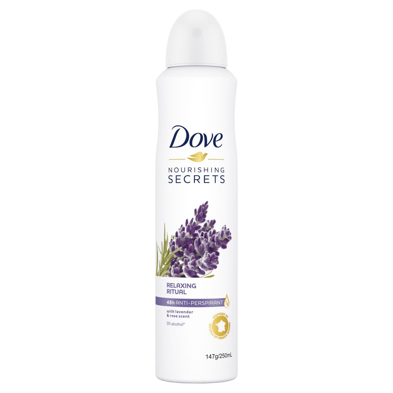 Dove Nourishing Secrets Antiperspirant Aerosol Lavender Rose Water, 250 Millilitre