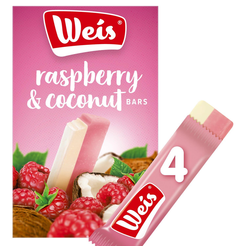 Weis Dairy Free Raspberry & Coconut Bars Pack, 4 Each