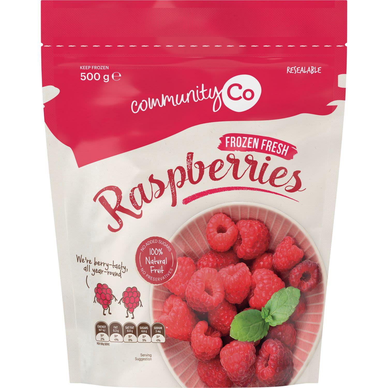 Community Co Frozen Raspberries, 500 Gram