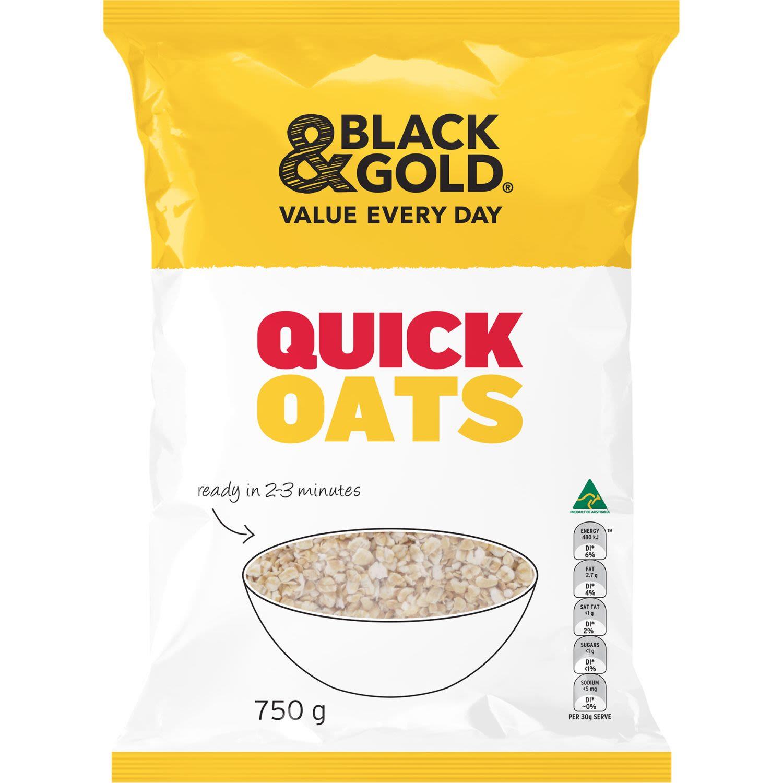 Black & Gold Quick Oats, 750 Gram