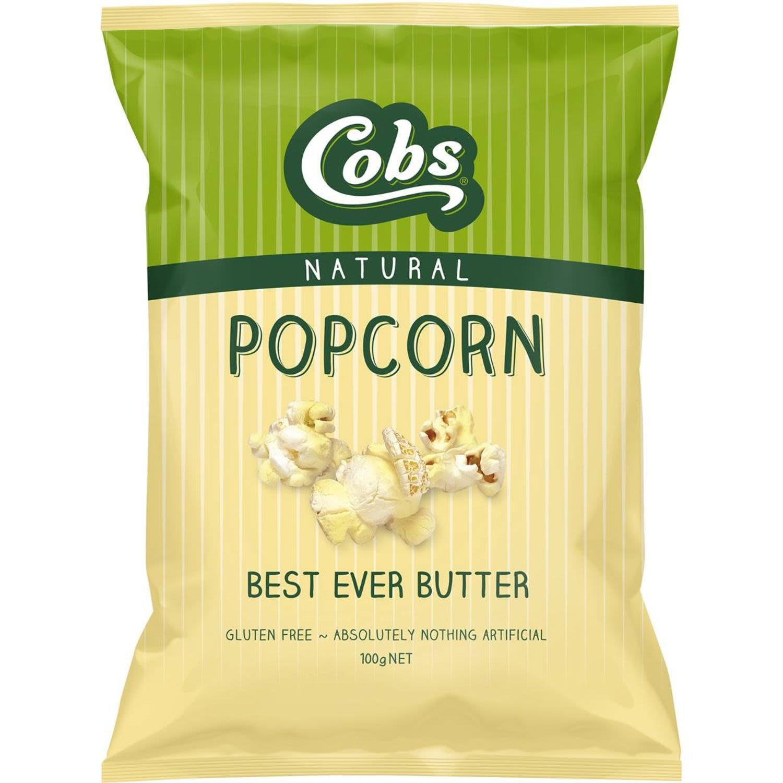 Cobs Popcorn Best Ever Butter Gluten Free, 100 Gram