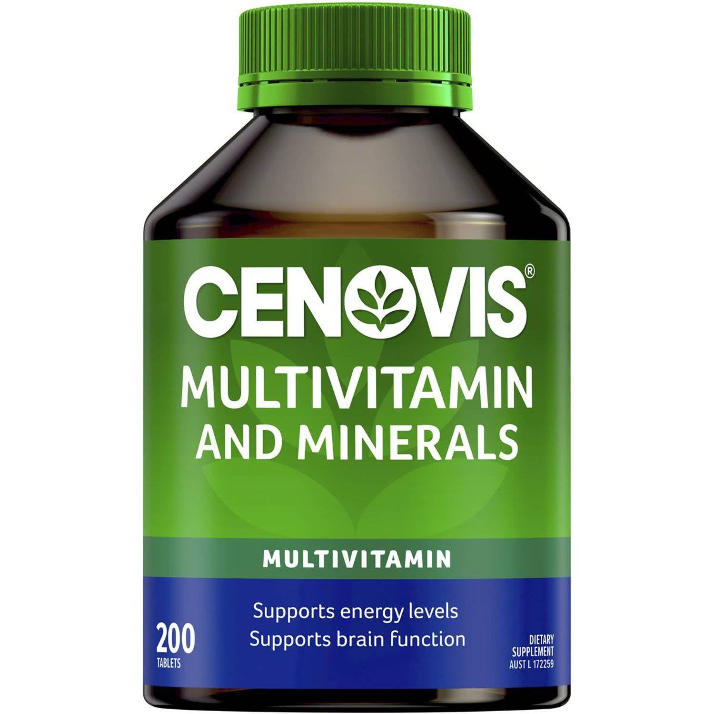 Cenovis Multivitamin & Minerals Tablets Value Pack, 200 Each