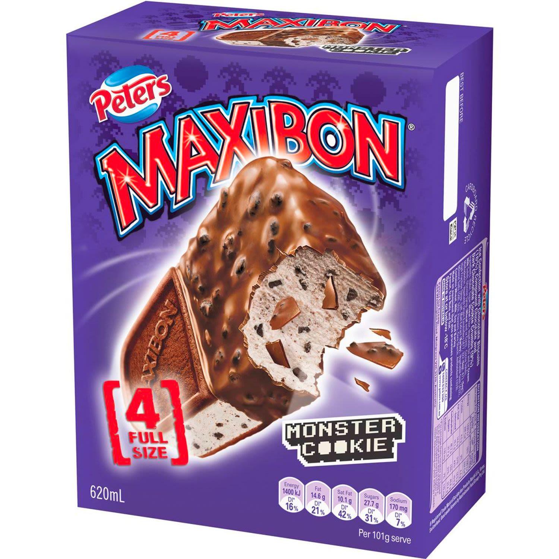 Peters Maxibon Monster Cookie, 4 Each