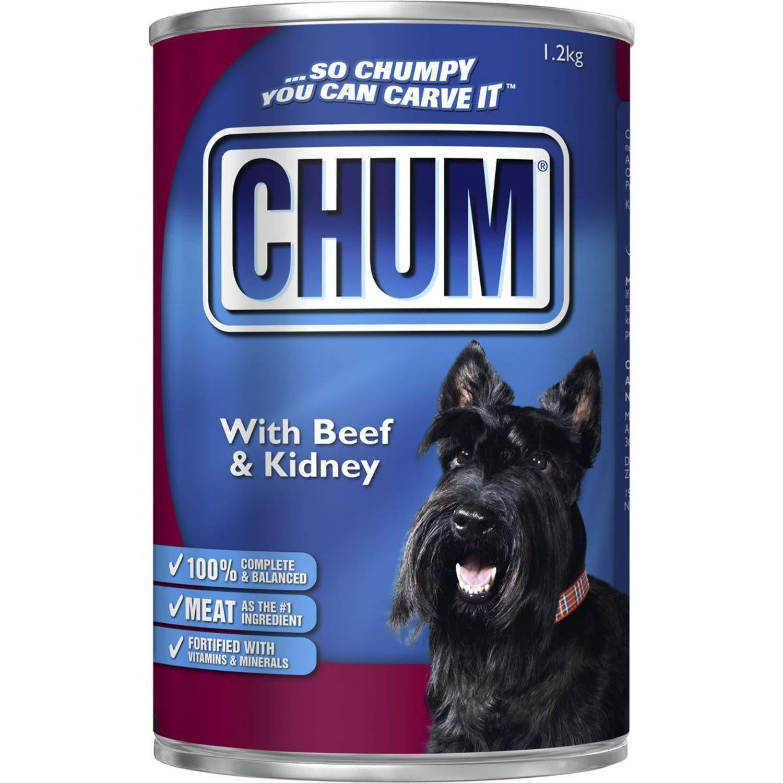 Chum Adult Dog Food Beef & Kidney, 1.2 Kilogram