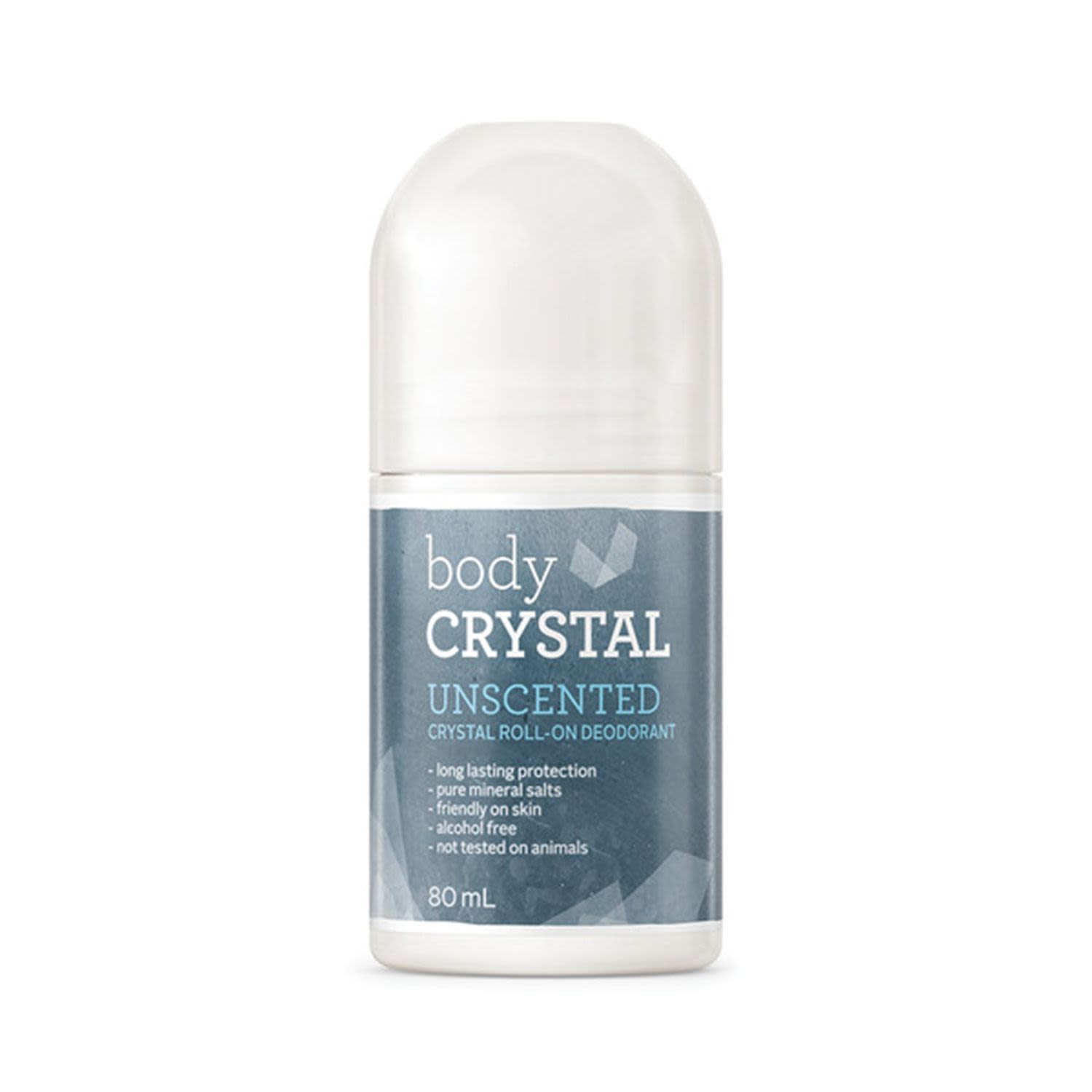 Body Crystal Crystal Roll-On Deodorant Unscented, 80 Millilitre