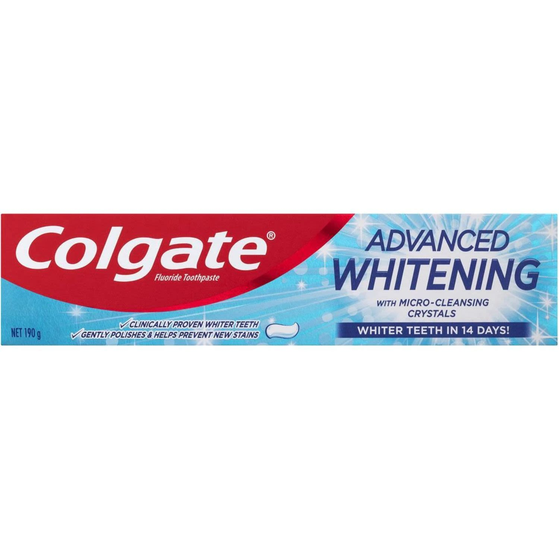 Colgate Advanced Whitening Fluoride Whiter Teeth Toothpaste, 190 Gram