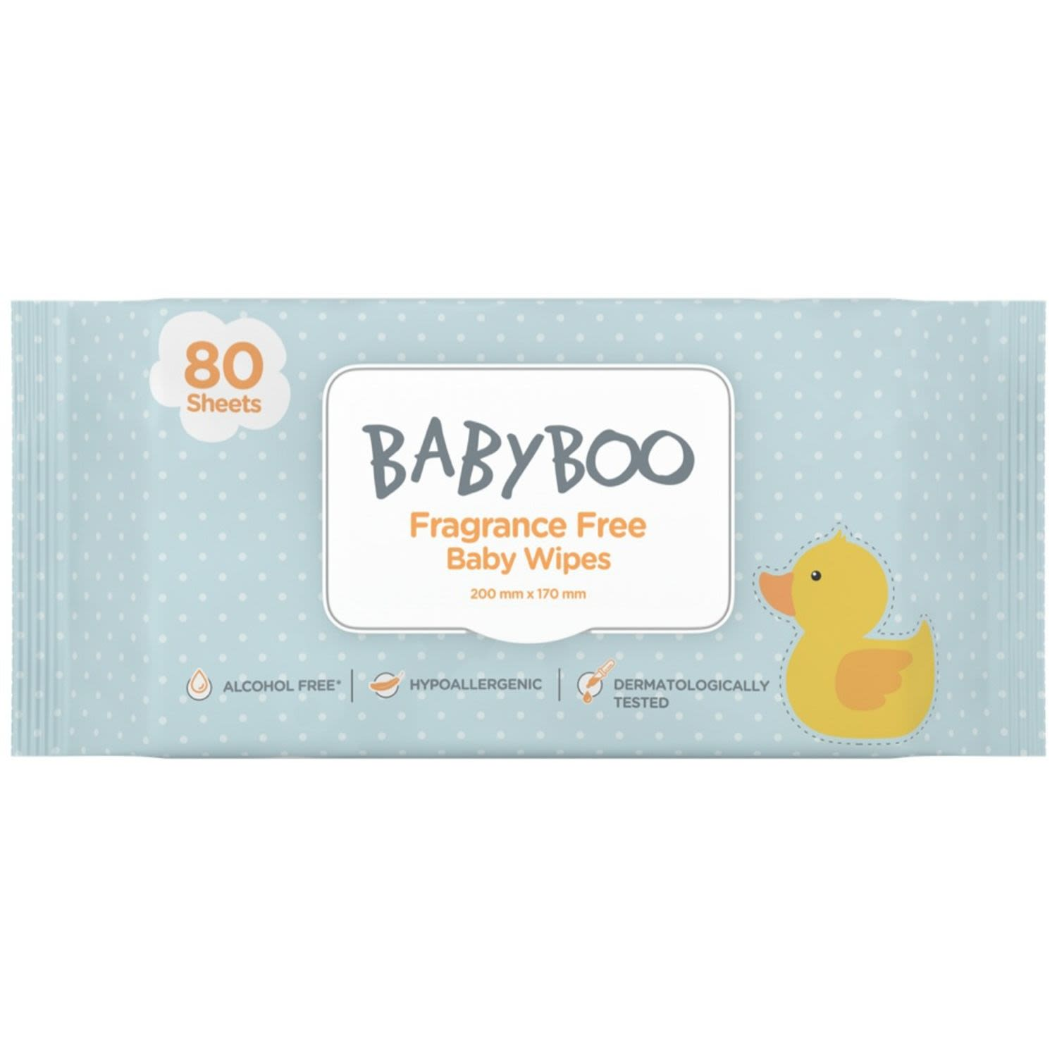 Babyboo Unscented Baby Wipes, 80 Each