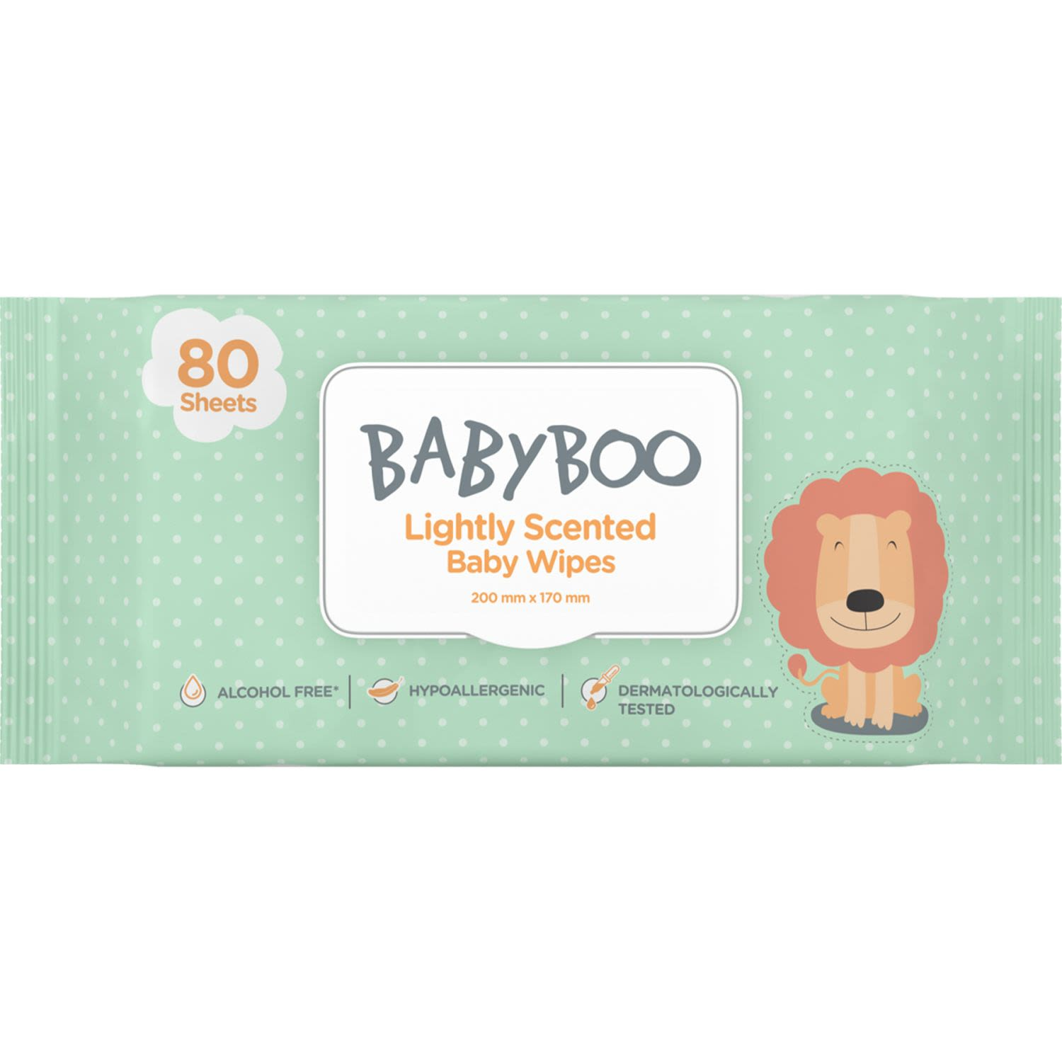 Baby Boo Baby Wipes Lightly Scented, 80 Each