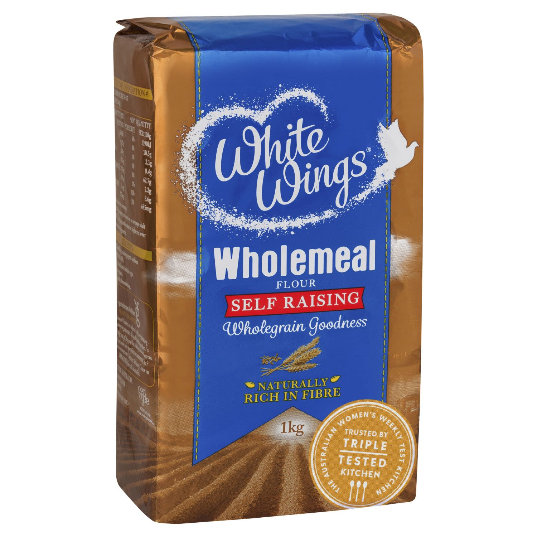 White Wings Self Raising Wholemeal Flour, 1 Kilogram