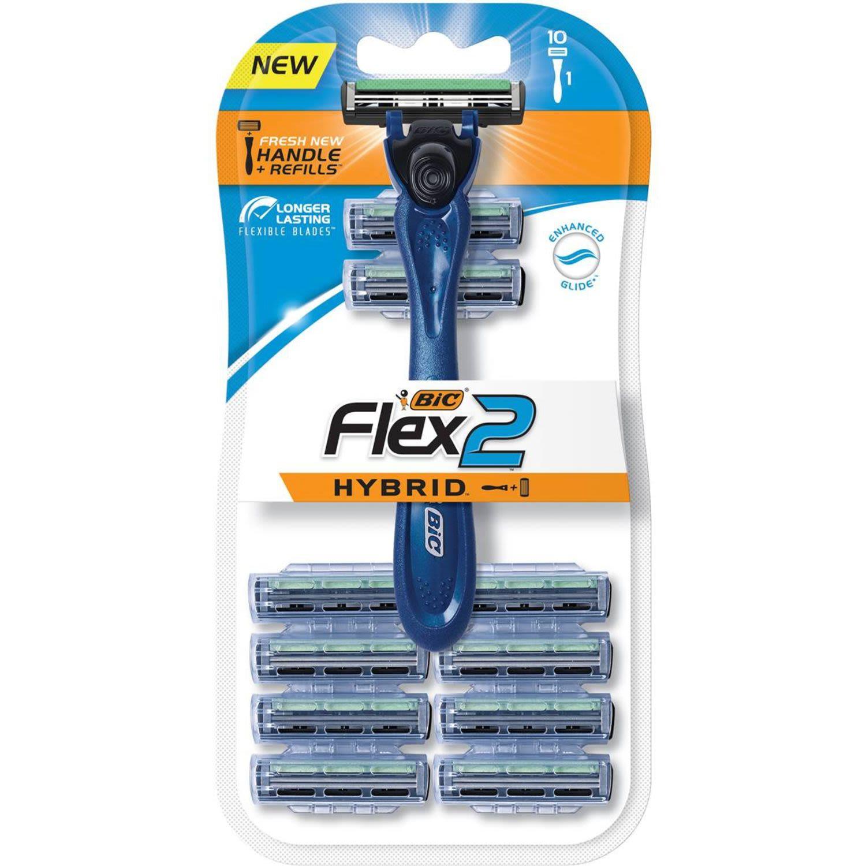 BIC Flex 2 Hybrid Shaver, 10 Each