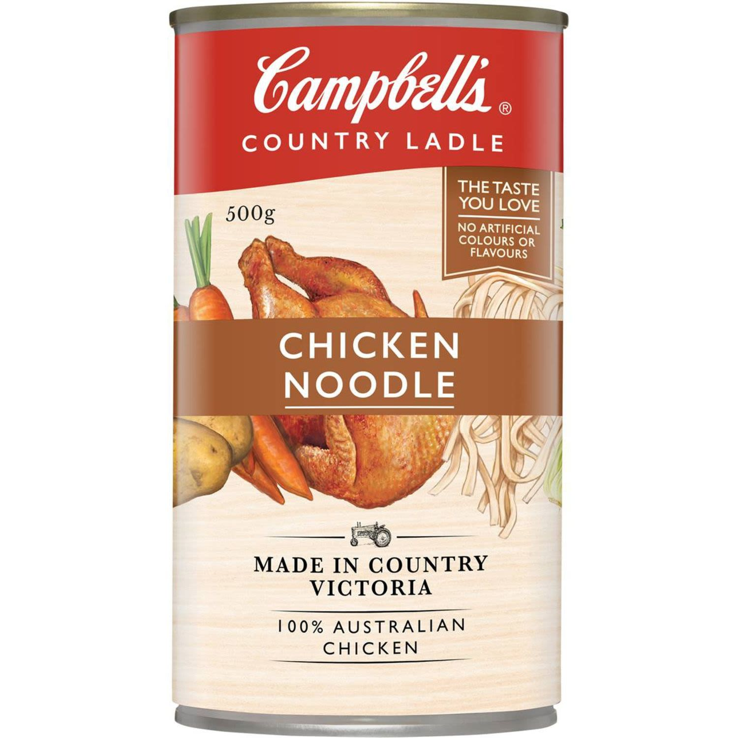 Campbell's Country Ladle Chicken Noodle Soup, 500 Gram