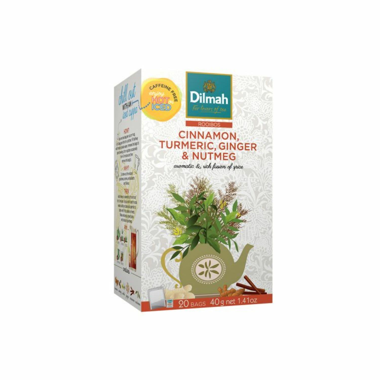 Dilmah Rooibos Cinnamon Turmeric Ginger & Nutmeg, 20 Each