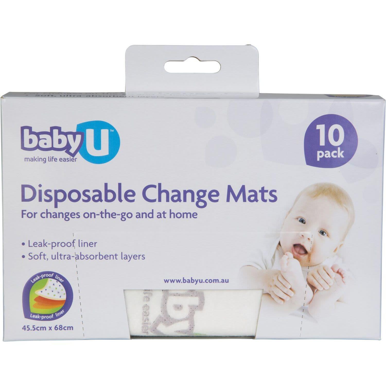 Baby U Disposable Change Mats, 10 Each
