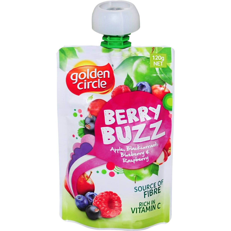 Golden Circle Berry Buzz Apple, Blackcurrant, Blueberry & Raspberry Pouch, 120 Gram
