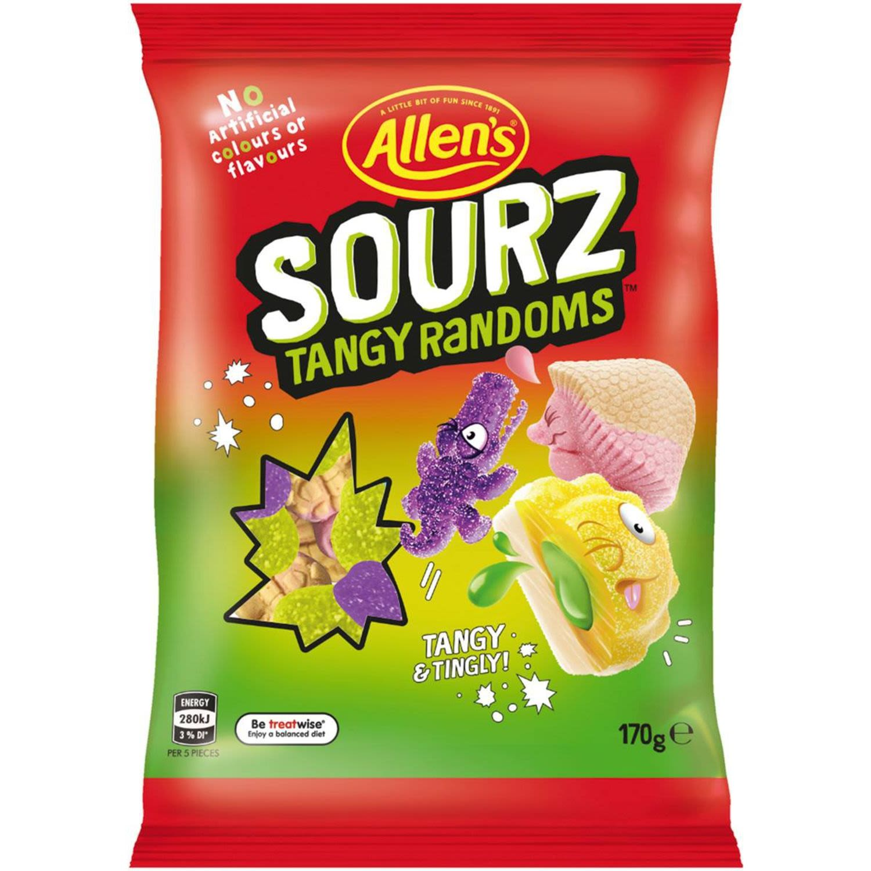Allen's Sourz Tangy Randoms, 170 Gram
