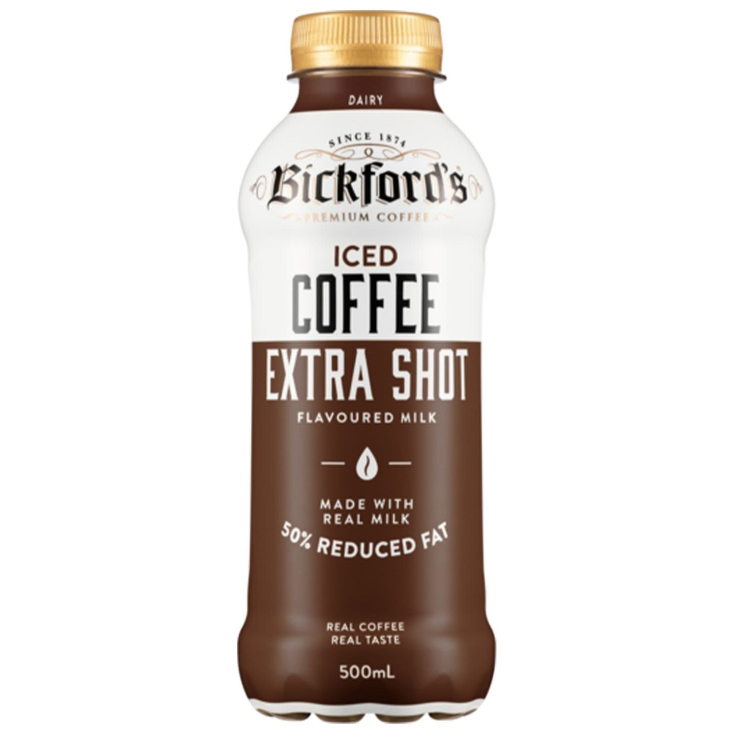 Bickford's Iced Coffee Extra Shot Flavoured Milk, 500 Millilitre