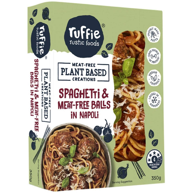 Ruffie Rustic Foods Plant Based Spaghetti Meat Free Balls, 350 Gram