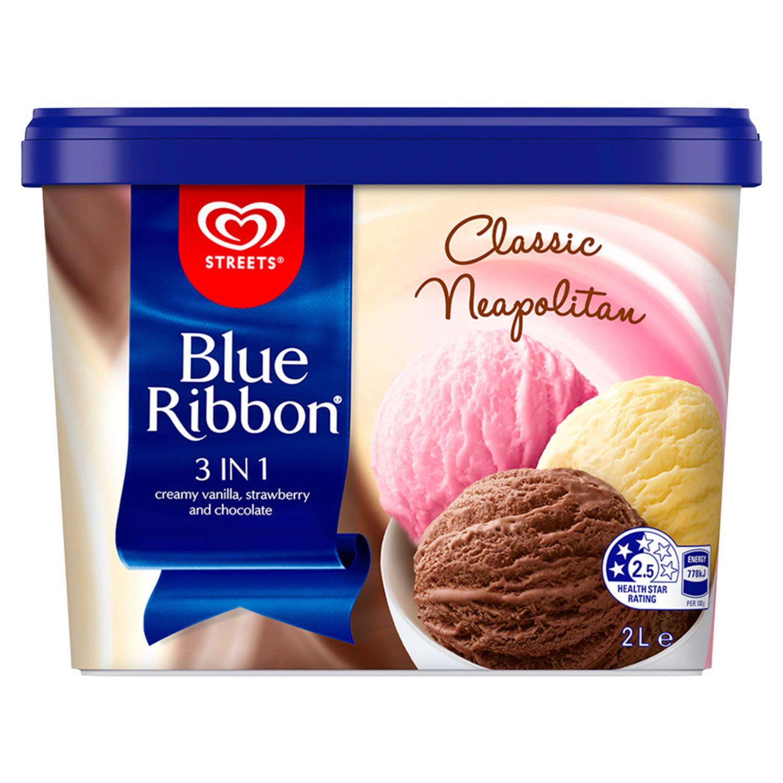 Blue Ribbon Neapolitan Ice Cream, 2 Litre