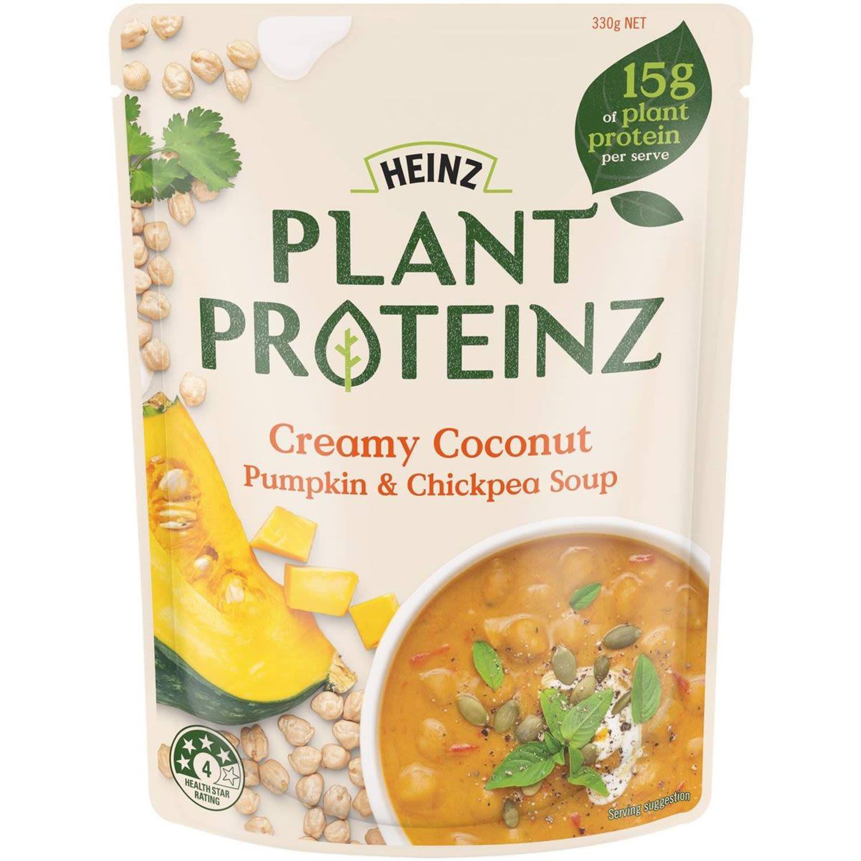 Heinz Plant Proteinz Creamy Coconut Pumpkin & Chickpea Soup, 330 Gram