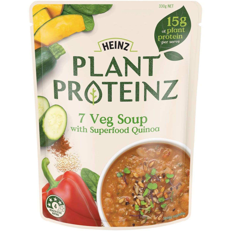 Heinz Plant Proteinz 7 Veg Soup, 330 Gram