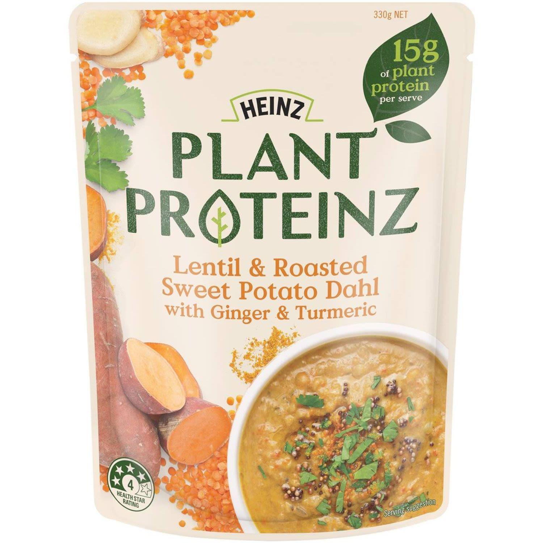 Heinz Plant Proteinz Lentil & Roasted Sweet Potato Dahl, 330 Gram