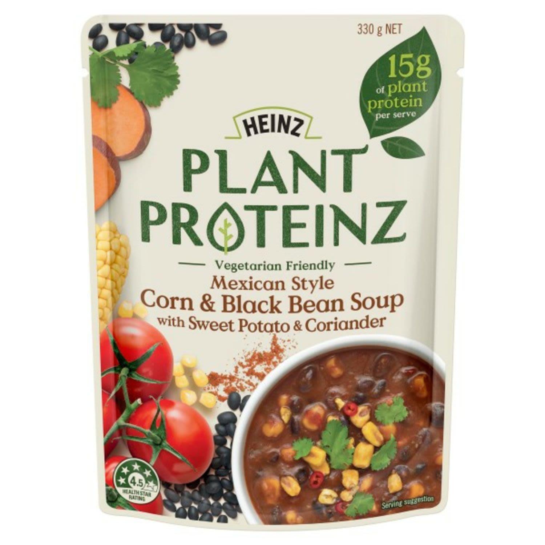 Heinz Plant Proteinz Mexican Style Corn & Black Bean Soup, 330 Gram